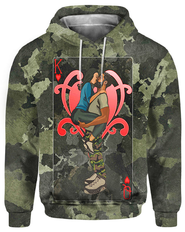 Playing Card Heart King And Queen All Over Apparel