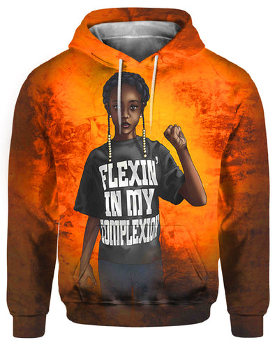 African American Artwork Black Kid Flexin In My Complexion All Over Apparel