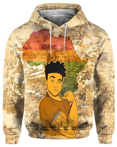 Pride Africa Black Men All Over Apparel