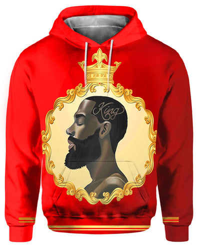 African Strength Powerful Black King All Over Apparel