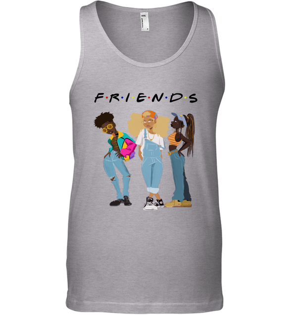 African American Black Girl Magic Friends Beauty Style Fashionable Model Tank Top