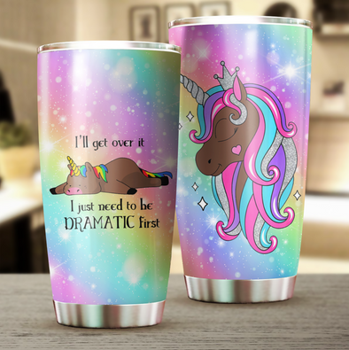 Colorful Unicorn Tumbler