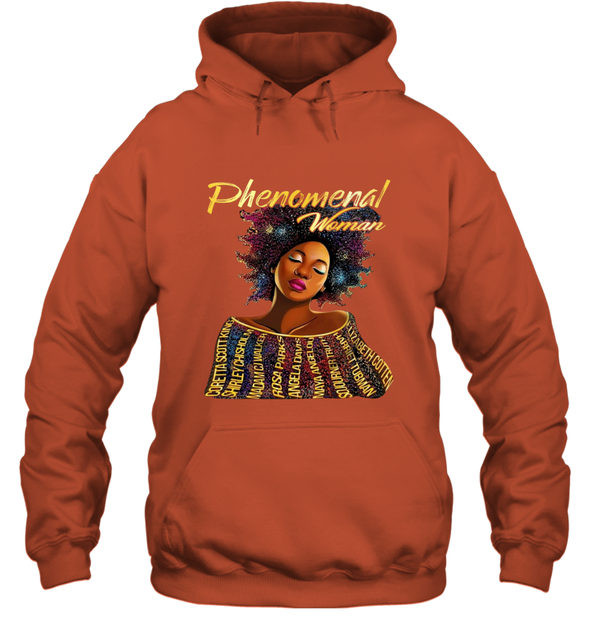 Black Women Art - Black History Phenomenal Woman Hoodie