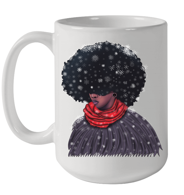 Afro Punk Afrocentric Snow Cold Boy Afro Puff Art Boy Mug