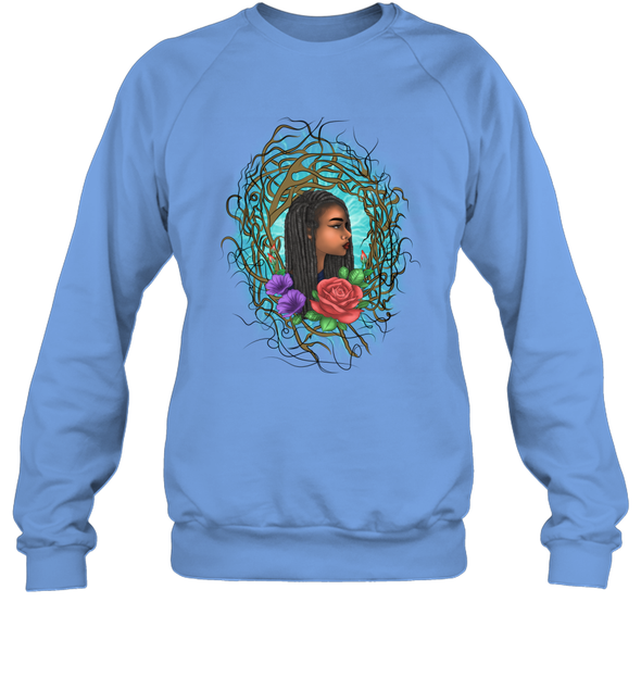 Locs Style For Women Art Wild Natural Style Long Hair Girl Sweatshirt