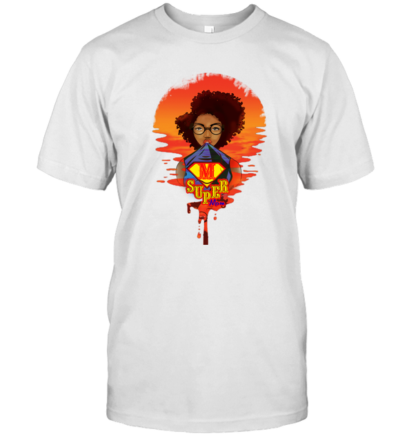 Mother's Day Present - Afro Kinky Curly Super Mom T-Shirt