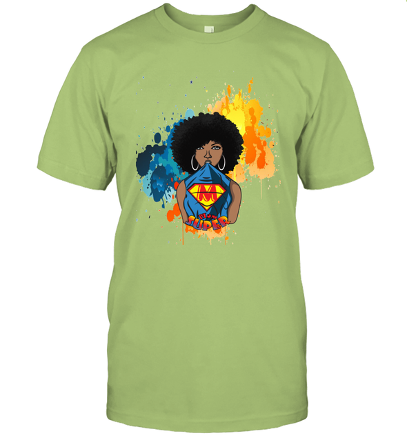 Mother's Day Gift - Afro Natural Black Super Mom T-Shirt