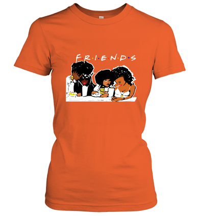 African American Black Friends With Afro Melanin Poppin Girls Party Women's T-Shirt