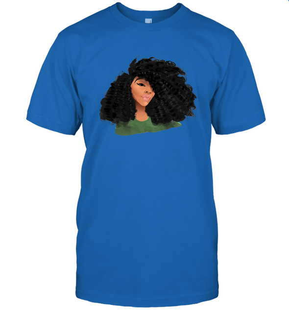 Black Curls Art - Afro Curly Girl T-Shirt