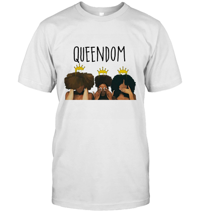 African American Women Art Black Queendom With Afro Melanin Poppin Hair Care T-Shirt