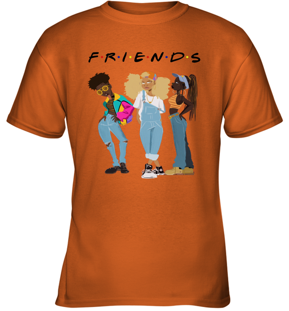 African American Black Girl Magic Friends Beauty Style Fashionable Model Youth T-Shirt