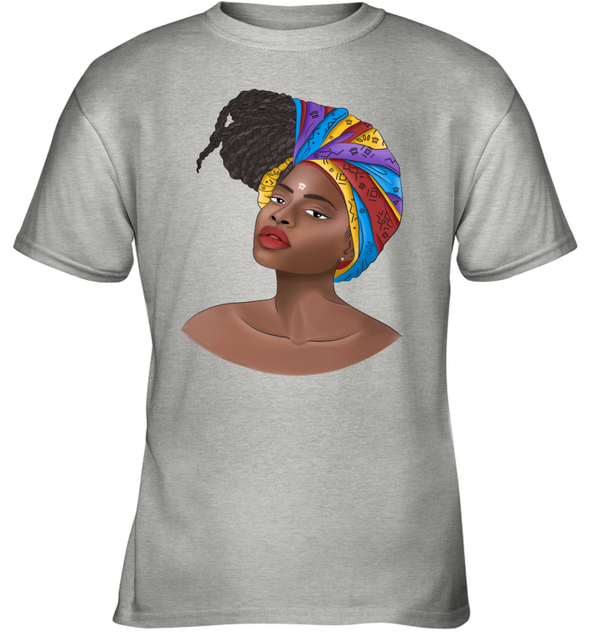 Natural Africa Loves - African Headwraps Dreadlocks Hair Women Youth T-Shirt