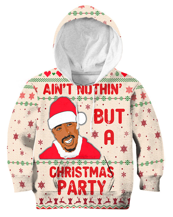 Black Men Chrismas - Tupac Santa Ain't Nothing But A Christmas Party All Over Apparel