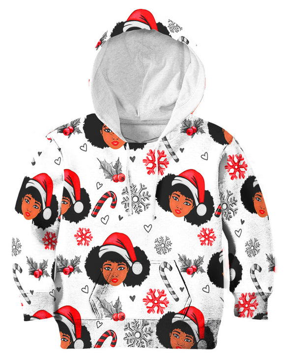 Black Women Christmas  Pattern 2 All Over Apparel
