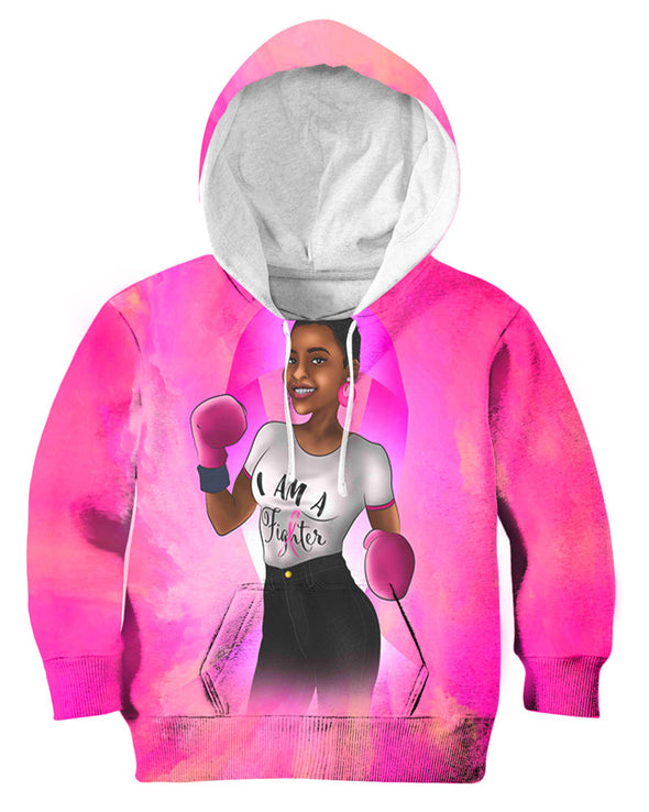 Breast Cancer Awareness Month Black Art African American Black Fighter All Over Apparel