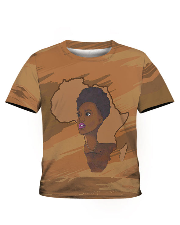 Pride Natural Black Short Hair Women All Over Apparel