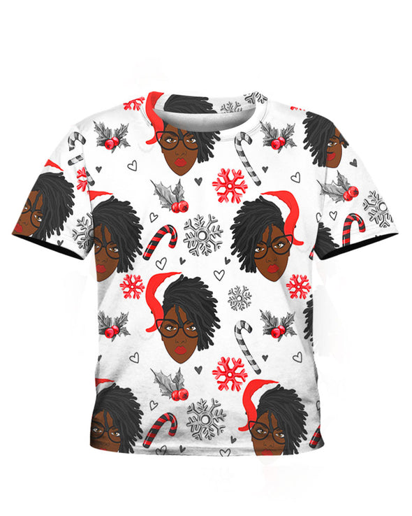 Black Women Christmas  Pattern 7 All Over Apparel