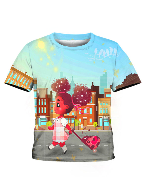 African American For My Daughter Go To School Afro Bubble Girl All Over Apparel