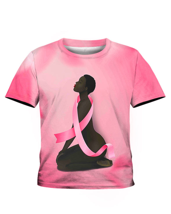 African America Art Black Fighter Breast Cancer Awareness All Over Apparel