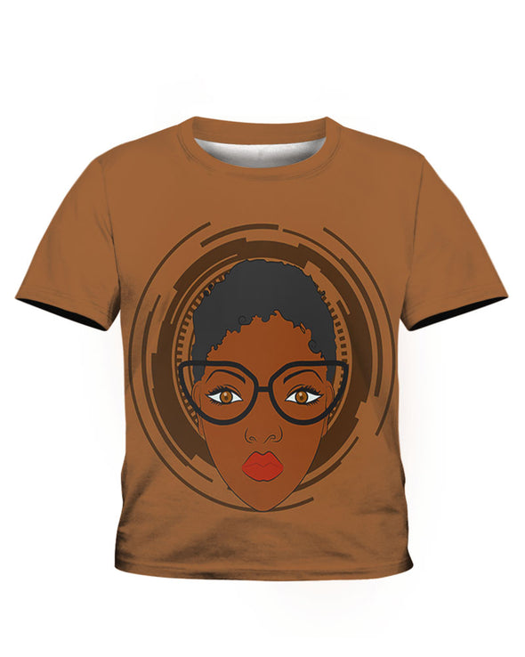 African Black Short Hair All Over Apparel