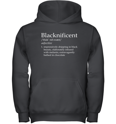 Blacknificent Definition Youth Hoodie