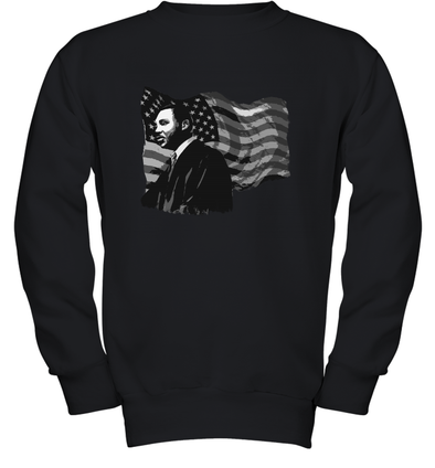 Martin Luther King American Flag Youth Sweatshirt