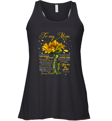 Yellow Flower You Will Always Be My Loving Mother - Daughter to Mom Racerback Tank