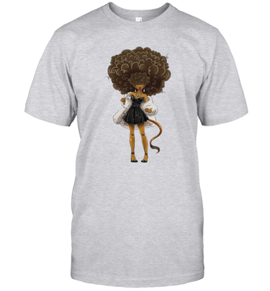 African American Hair Braiding Artwork Cosplay Afro Woman T-Shirt