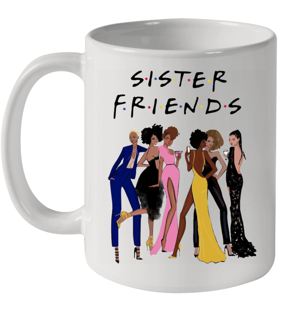 African American Black Women Art Sister Friends Event Costume Girls Mug