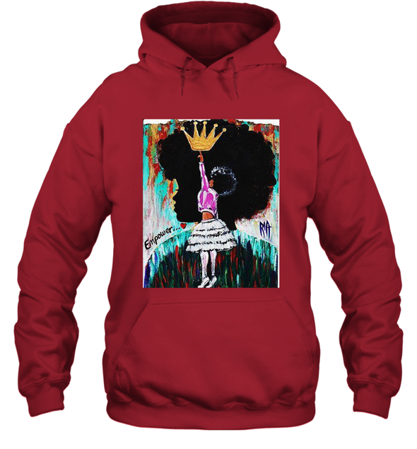 Black Girl Art - Afro Natural Hair Girl Queen Hoodie