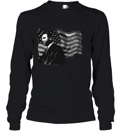 Martin Luther King American Flag Youth Long Sleeve