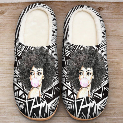 Black Women Art - Melanin Poppin Bubble Women Slipper