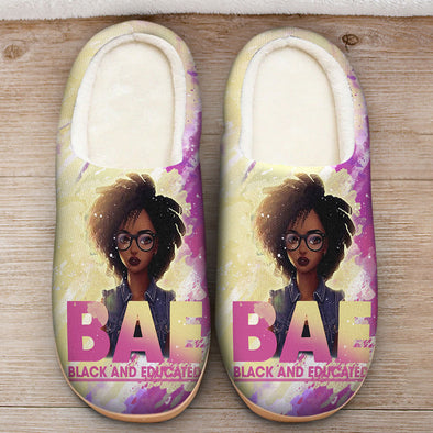Black Girl Art - Black Educate Slipper