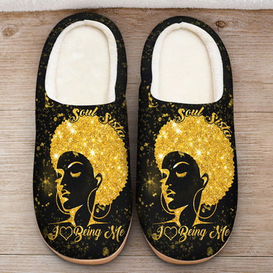 Black Women Art - Soul Sista I Love Being Me Slipper