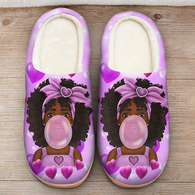 Baby Melanin Poppin Art - Melanin Poppin Bubble Cute Baby Slipper