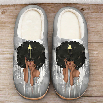 Black Queen Art - Afro Queen Natural Hair Beauty Slipper