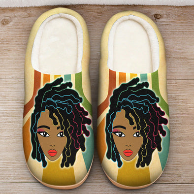Black Women Dreadlock Slipper