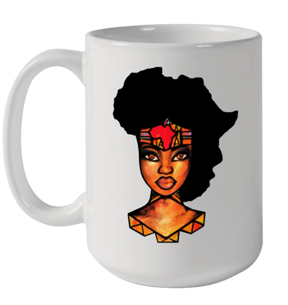 African American Art Pride Afro Natural Hair Black Woman Mug