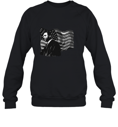 Martin Luther King American Flag Sweatshirt