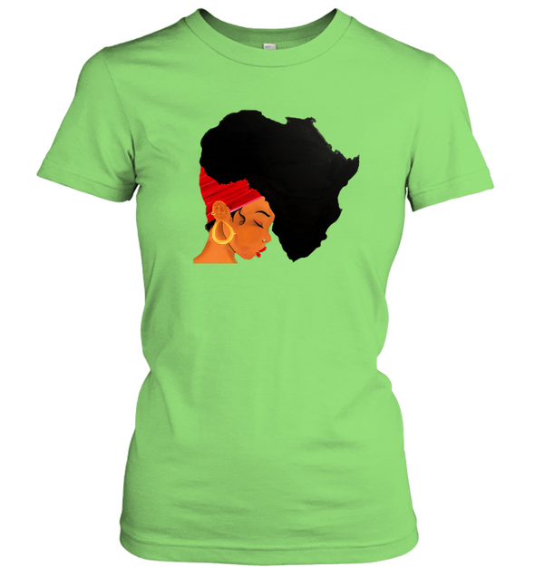 Afro Natural Hair - African Women Women's T-Shirt