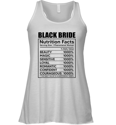 Black Bride Nutrition Facts Flowy Tank