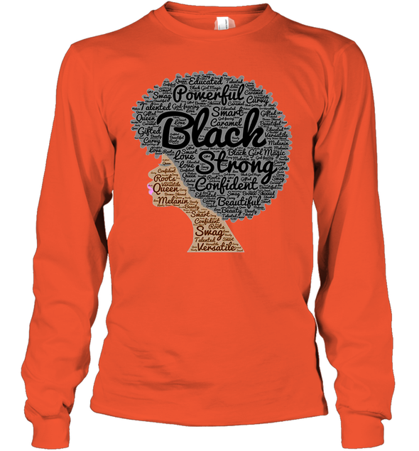 Naptural Hair Art - Afro Black Strong Youth Long Sleeve