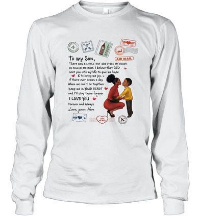 Stamps Keep Me In Your Hear - Elegant Mother To Son Long Sleeve T-Shirt