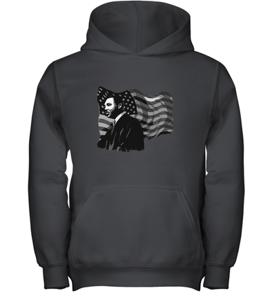 Martin Luther King American Flag Youth Hoodie