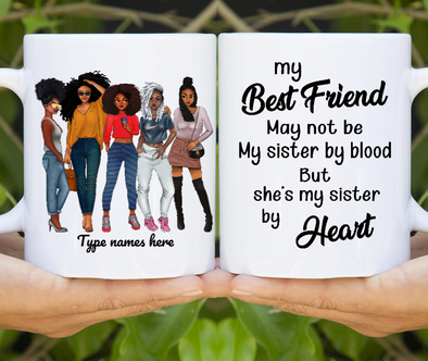 To My Bestie Friends Sister Personalized Mug Custom Name Female Model Message Gift Ideas Mug