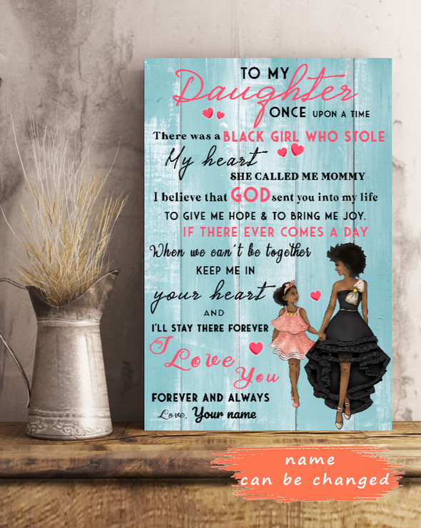 To My Daughter Personalized Poster Custom Name Female Model Message Mother's Day Gift Ideas Poster