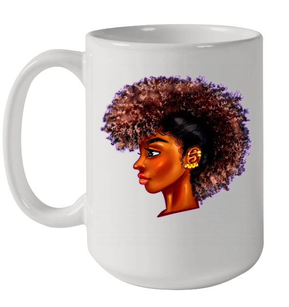 Afro Dreadlock Black Women Locs Art Mug