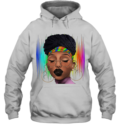 Black Woman Afro Natural Hair Headwraps Dreadlocks Pride Hoodie