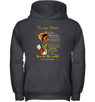 Flower Woman You will always my loving mother - Daughter to Mom Youth Hoodie