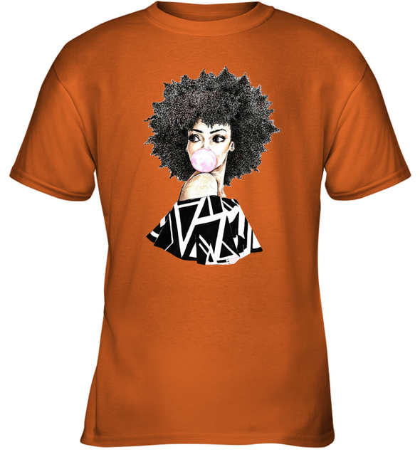 Black Women Art - Melanin Poppin Bubble Women Youth T-Shirt